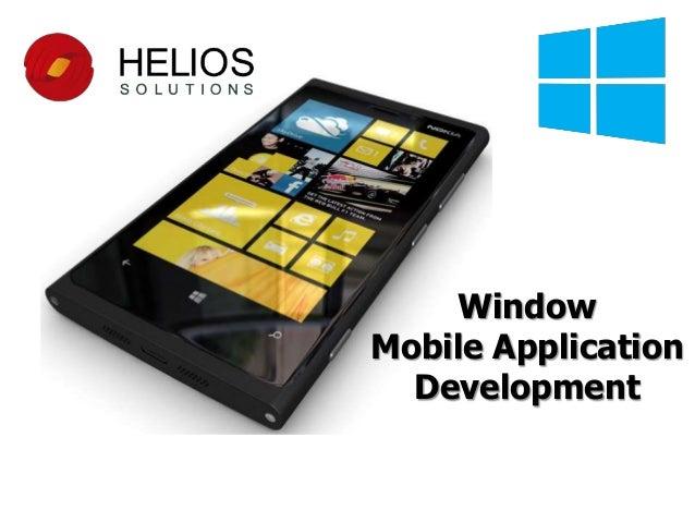 Window Mobile Application Development