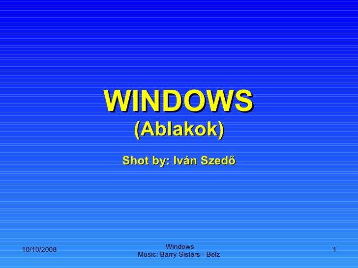 WINDOWS (Ablakok) Shot by: Iván Szedő