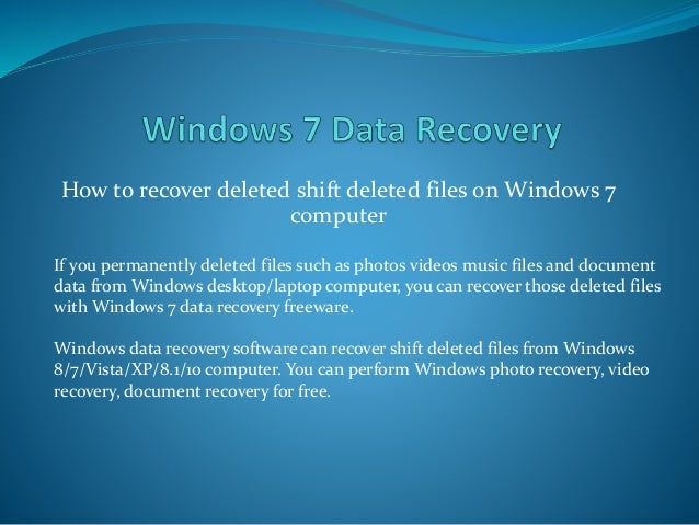 Data recovery software for Windows. FREE easy steps in 2019
