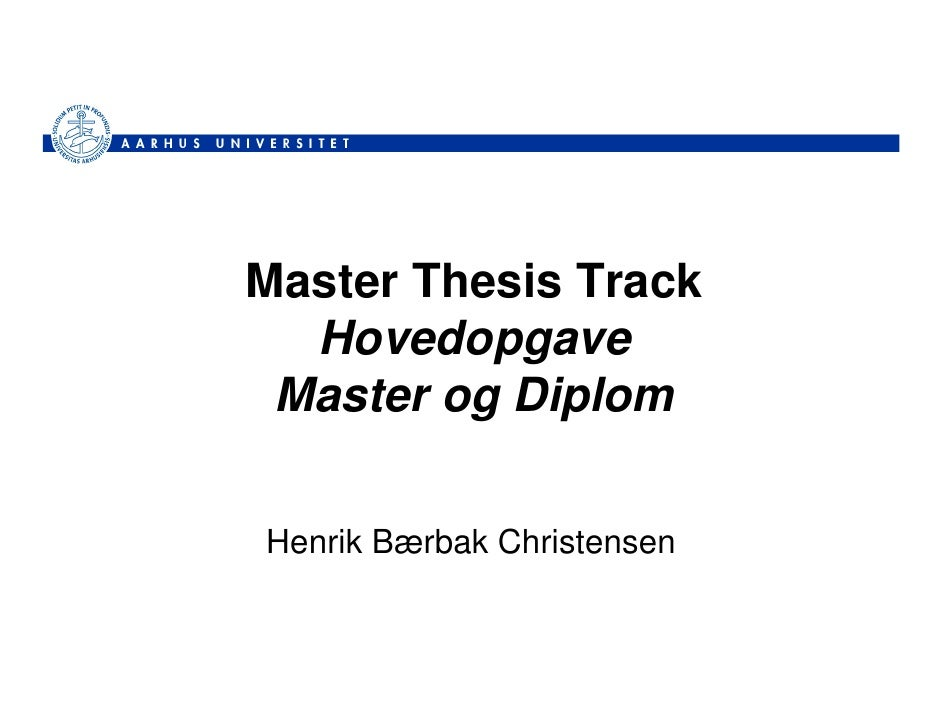 Master Thesis Track