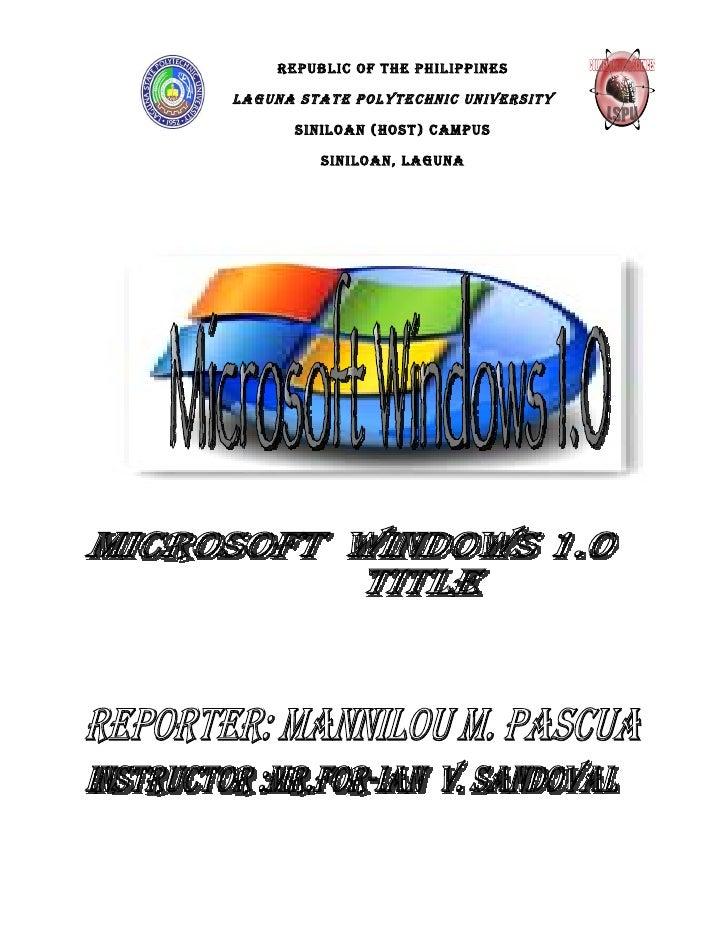 Windows 1.O