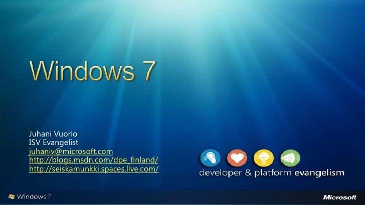 Windows 7 - uudet ominaisuudet