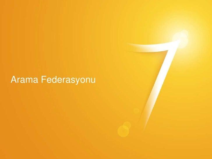 Windows7 Arama federasyonu