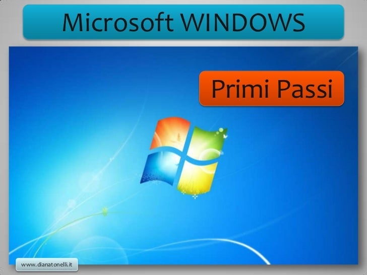 Microsoft WINDOWS                        Primi Passiwww.dianatonelli.it