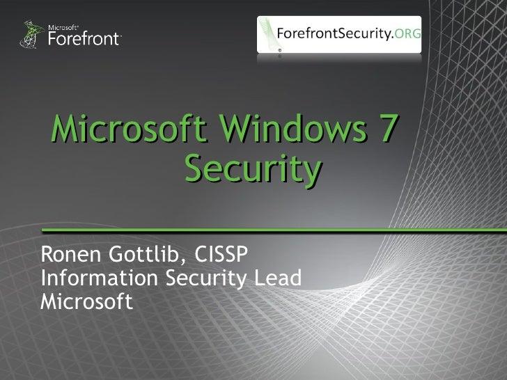 Windows 7 by microsoft