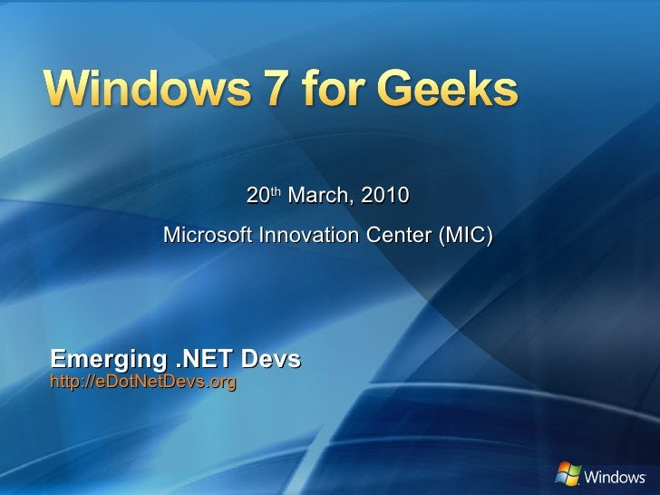 Windows 7 For Geeks