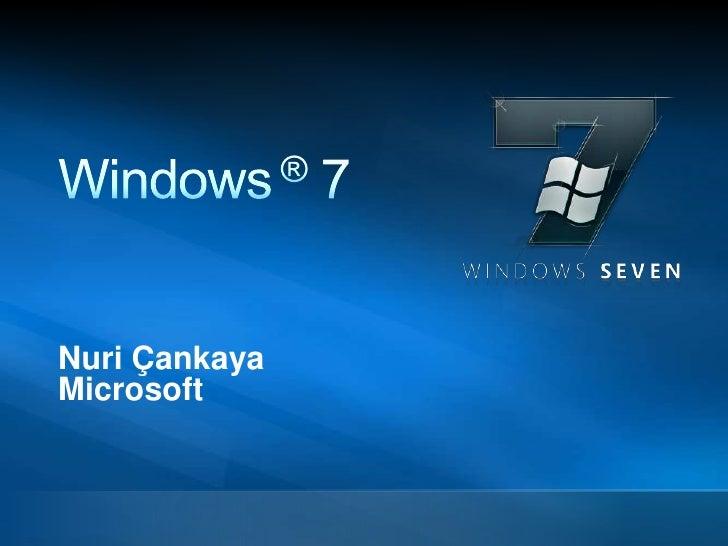 Windows7 Kurumsal Sunum