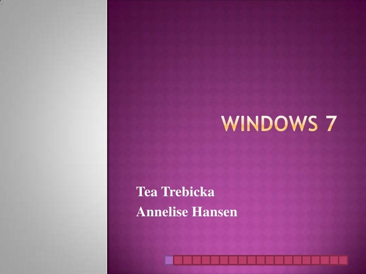 Windows 7 project final
