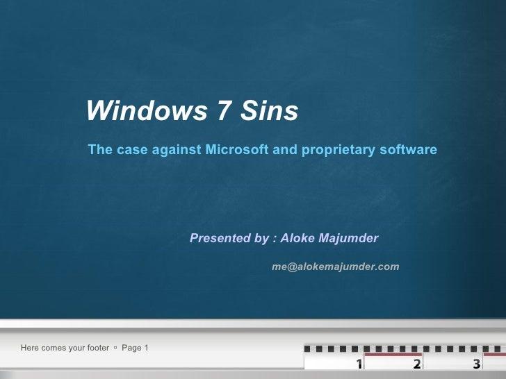 Windows7sins