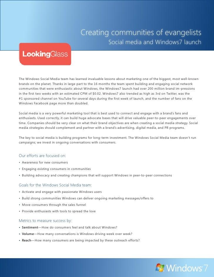 Windows7 Social Media Case Study