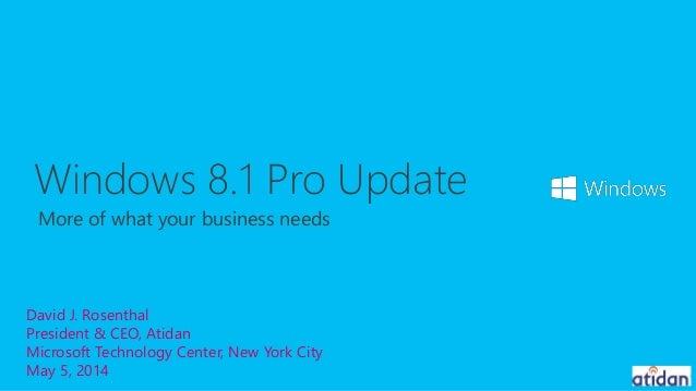 Microsoft Windows 8.1 Pro - presented by Atidan