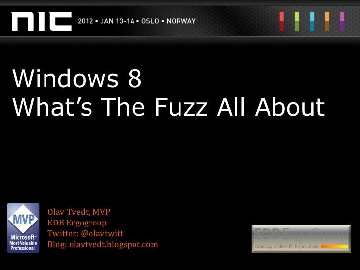 Windows 8 fuzz
