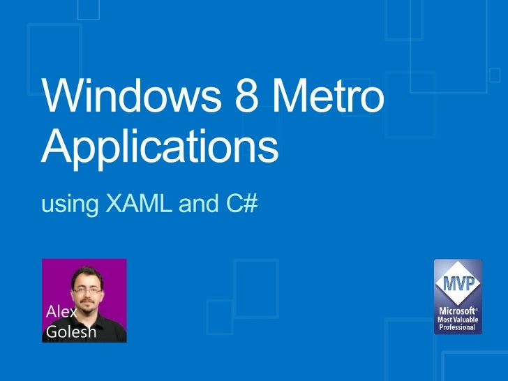 Windows 8 metro applications