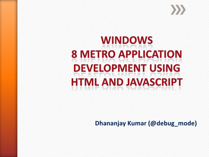 Windows8 metro presentation