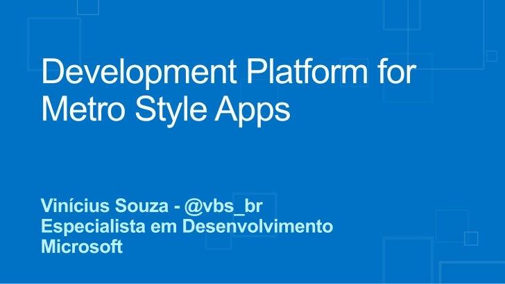 Windows 8 plataforma de desenvolvimento
