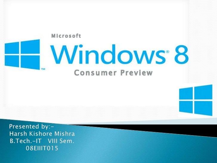 Microsoft       Consumer Preview