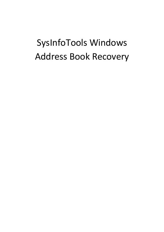 SysInfoTools Windows Address Book Recovery