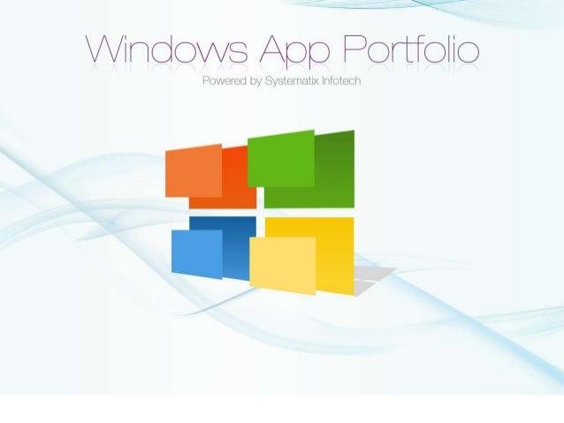 Windows App Portfolio
