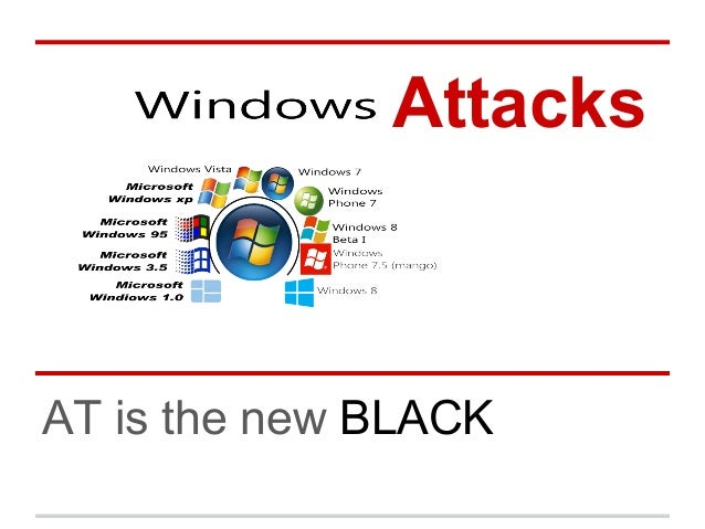 Windows Attacks   AT is the new black
