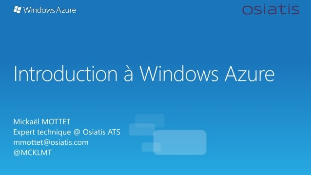 Introduction à Windows Azure