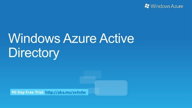 Windows Azure Active Directory (Identity) Overview