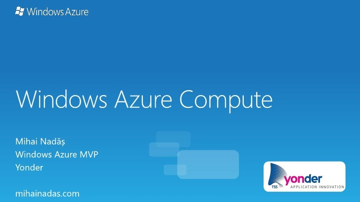 Windows Azure Compute