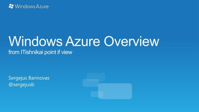 Windows Azure from practical point of view