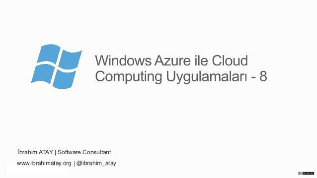 Windows Azure ile Cloud Computing Uygulamaları – Bölüm 8