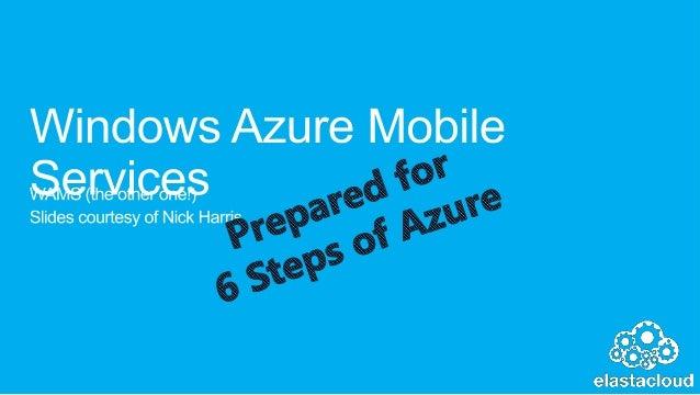 Windows azure mobile services