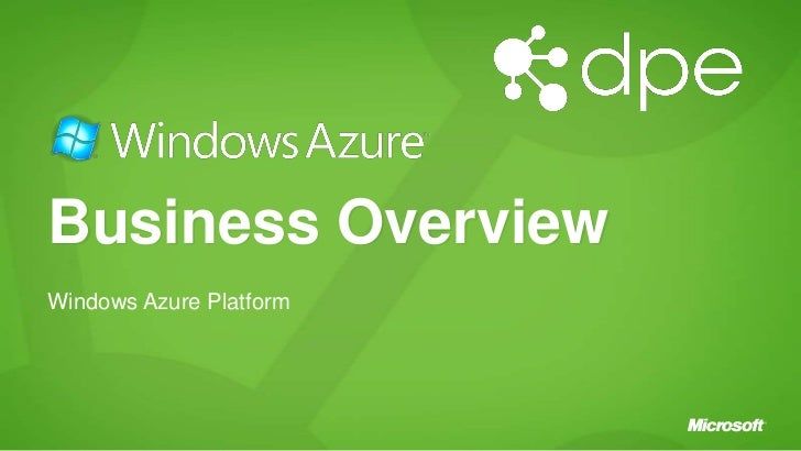 Windows azure platform_business_overview