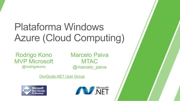 Plataforma Windows Azure (Cloud Computing)