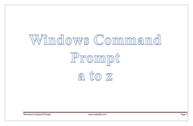 Windows command prompt a to z