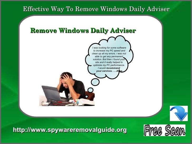 EffectiveWayToRemoveWindowsDailyAdviser            How To Remove     RemoveWindowsDailyAdviser                  ...