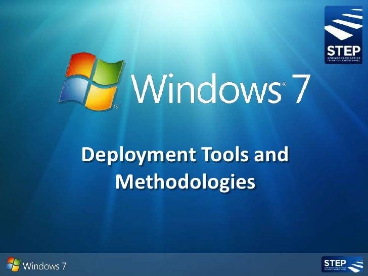 Windows Deployment Tools And Methodologies