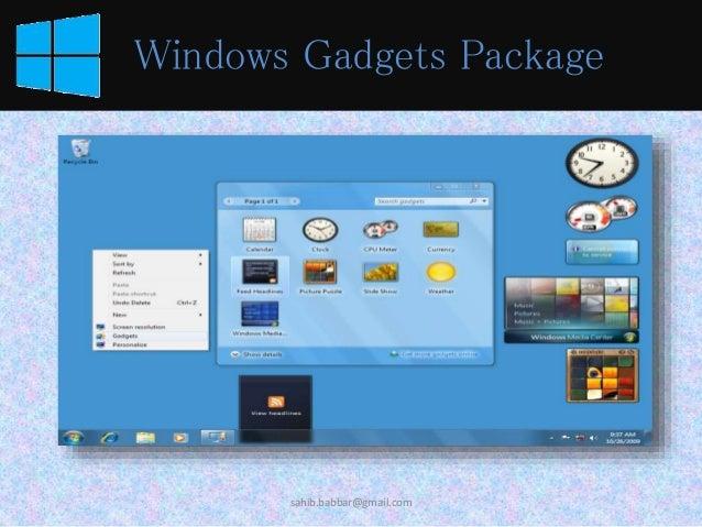 Gadgets Windows