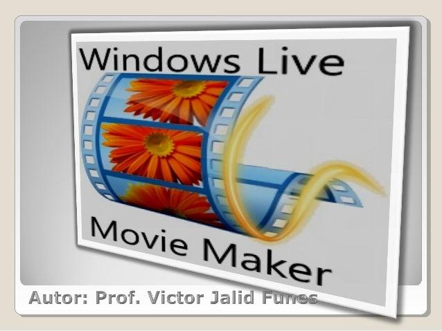 El Windows Live Movie Maker es un editor devideoqueviene con el paquete de Windows Live. Aquí una foto delprograma ya po...