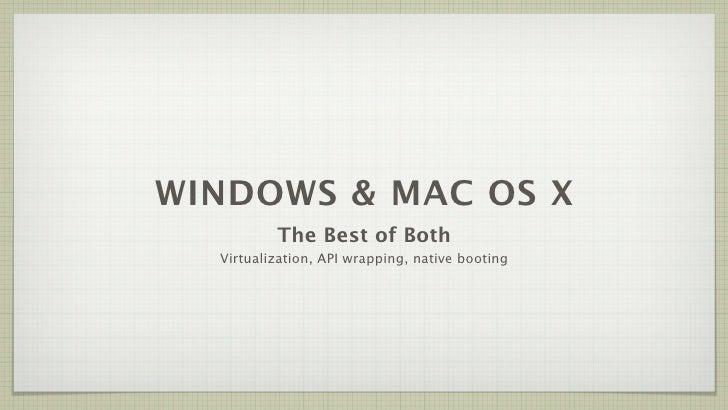 Windows & Mac OS X