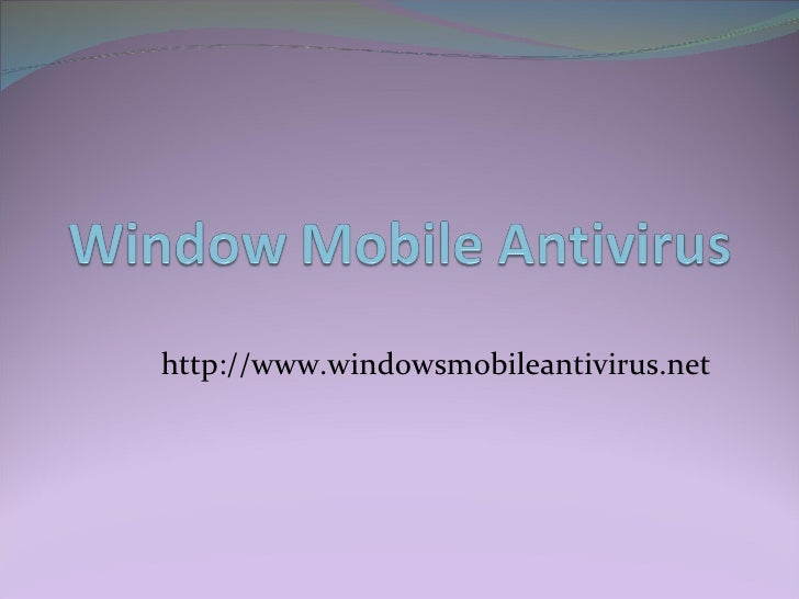 Windows Mobile Antivirus