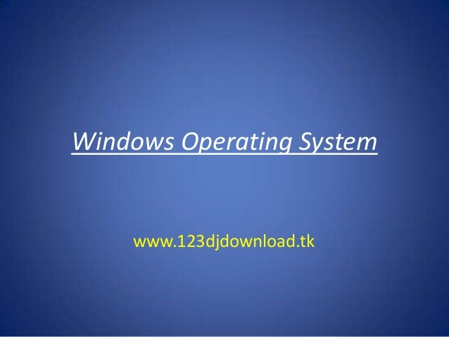 Windows operating system