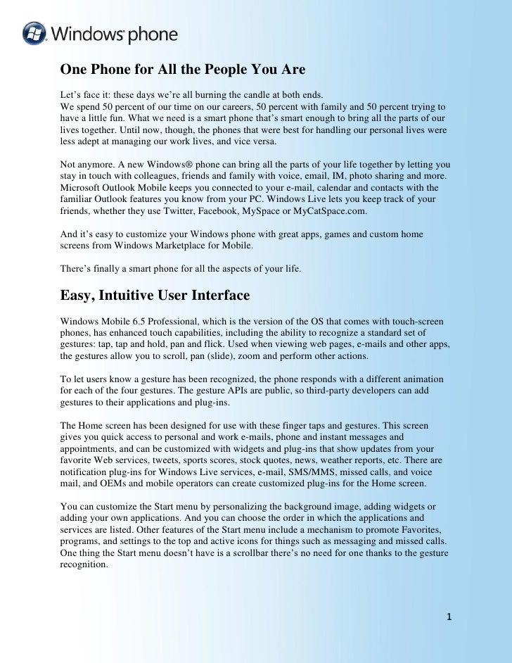 Windows Phone65 Insight Guide