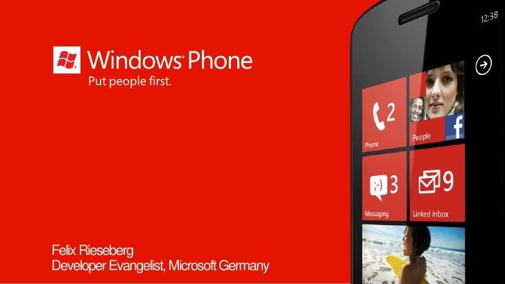 MMT 30: Windows Phone 7 – Architektur, Frameworks & APIs