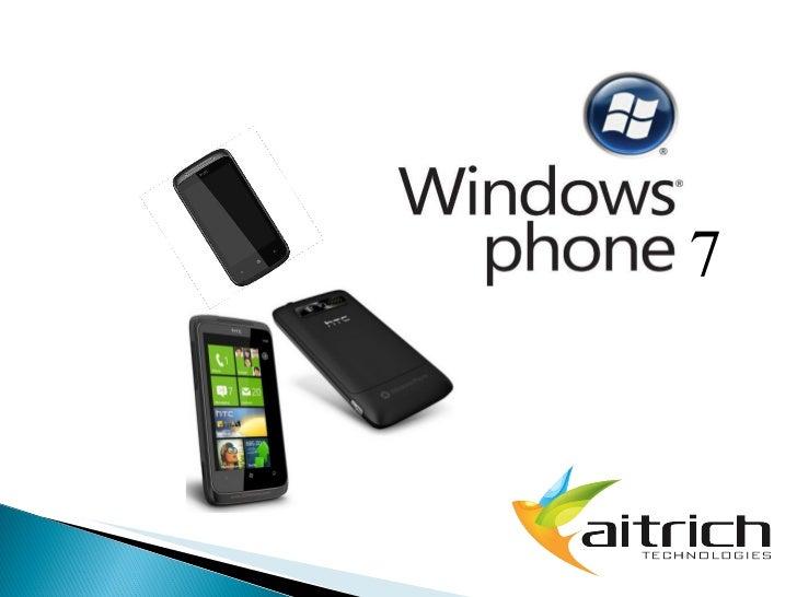 Windows phone 7 launch ppt