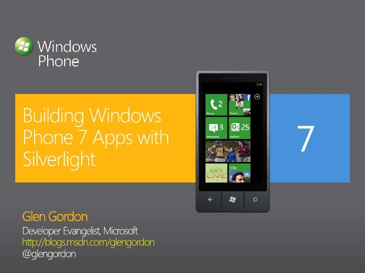 Windows Phone 7 and Silverlight