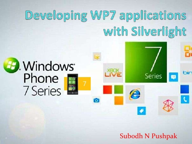 Windows Phone 7 Applications with Silverlight