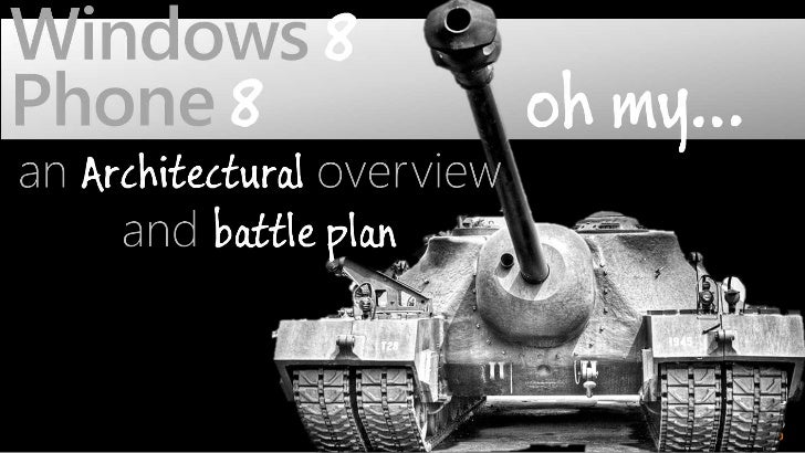 Windows 8 & Phone 8 - an Architectural Battle Plan