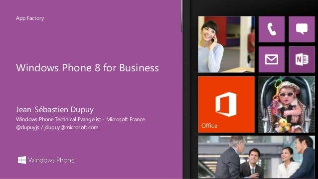 Windows Phone 8 for Business - Developer Talks