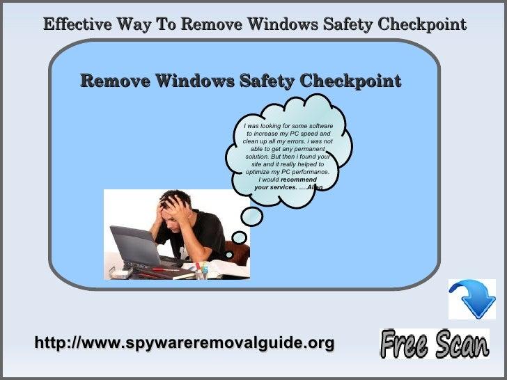 EffectiveWayToRemoveWindowsSafetyCheckpoint            How To Remove     RemoveWindowsSafetyCheckpoint          ...