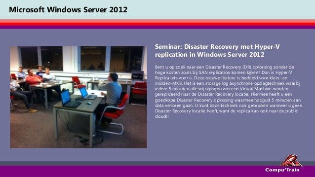 Windows server 2012 Seminar 3: Hyper-V replica