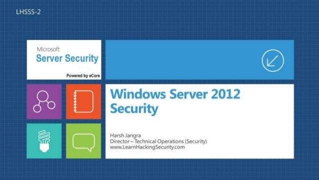 Windows server 2012 security Webinar