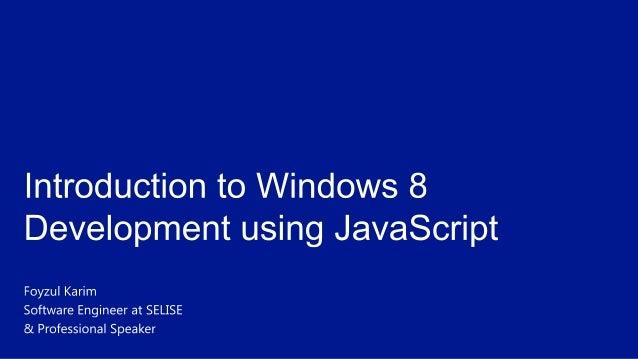 Windows store app development using javascript